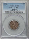 Lincoln Cents, 1941 1C Doubled Die Obverse, FS-101, AU55 PCGS. PCGS Population: (4/2). NGC Census: (1/4). ...
