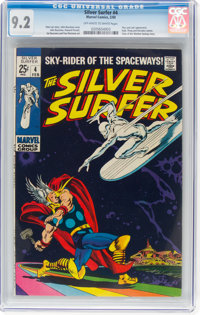 The Silver Surfer #4 (Marvel, 1969) CGC NM- 9.2 Off-white to white pages