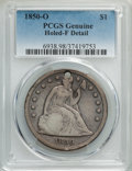 1850-O $1 -- Holed -- PCGS Genuine. F Details. NGC Census: (7/134). PCGS Population: (7/211). CDN: $455 Whsle. Bid for p...
