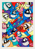 Prints & Multiples:Print, PEZ (b. 1976). Happiness Everywhere (Neon Edition), 2017. Screenprint in colors on Somerset paper. 27-1/2 x 19-5/8 inche...