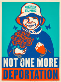 Shepard Fairey (b. 1970) Not One More, 2015 Screenprint in colors on cream speckled paper 24 x 18 inches (61 x 45.7 c