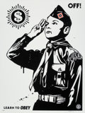 Prints & Multiples:Print, Shepard Fairey (b. 1970). Learn to Obey, 2014. Screenprint on paper. 24 x 18 inches (61 x 45.7 cm) (sheet). Ed. 72/450. ...
