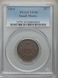 1864 2C Small Motto VF30 PCGS. PCGS Population: (36/460). NGC Census: (16/336). CDN: $460 Whsle. Bid for problem-free NG...