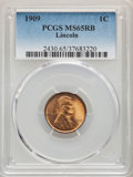 Lincoln Cents, 1909 1C MS65 Red and Brown PCGS. PCGS Population: (276/45). NGC Census: (236/52). CDN: $50 Whsle. Bid for problem-free NGC/...