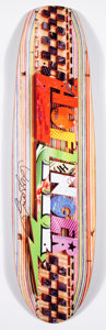 Collectible:Contemporary, Haroshi X HUF X DLX Collection. Huf Zinger, 2012. Offset lithograph in colors on skate deck. 32 x 8 inches (81.3 x 20.3 ...