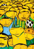 Prints & Multiples:Contemporary, OSGEMEOS (Brazilian, b. 1974). Nos Somos Penta!. Print on canvas. 11-3/4 x 8-1/4 inches (29.8 x 21 cm). Edition of 1001...