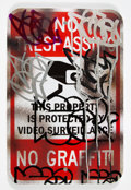 Paintings:Contemporary, Hael (American, 20th century). No Trespassing, 2019. Acrylic on street sign. 18 x 12 inches (45.7 x 30.5 cm). Signed and...