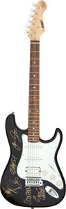 Music Memorabilia:Autographs and Signed Items, Scorpions Signed S101 Standard Guitar Serial #SNEFS24/BK (circa late 1990s/early 2000s). . ...