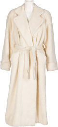 Movie/TV Memorabilia:Costumes, Farrah Fawcett Owned White Searie Coat. . ...