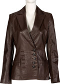 Movie/TV Memorabilia:Costumes, Farrah Fawcett Owned Brown Jacket. . ...