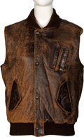Movie/TV Memorabilia:Costumes, Farrah Fawcett Owned Brown Charles Chevignon Vest. . ...