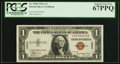 Small Size:World War II Emergency Notes, Fr. 2300 $1 1935A Hawaii Silver Certificate. Y-B Block. PCGS Superb Gem New 67PPQ.. ...