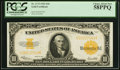 Large Size:Gold Certificates, Fr. 1173 $10 1922 Gold Certificate PCGS Choice About New 58PPQ.. ...