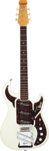 Musical Instruments:Electric Guitars, 2004 Burns 40th Anniversary Hank Marvin Signature White Solid Body Electric Guitar, Serial # 0526....