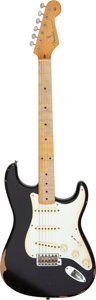 Musical Instruments:Electric Guitars, 2009 Fender Stratocaster Black Solid Body Electric Guitar, Serial # MZ9566669....