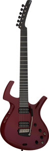Musical Instruments:Electric Guitars, Circa 1996 Parker Fly Burgundy Solid Body Electric Guitar, Serial #097155BP USA....