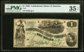 Confederate Notes:1862 Issues, T45 $1 1862 PF-2 Cr. 342 PMG Choice Very Fine 35 EPQ.. ...