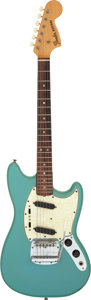Musical Instruments:Electric Guitars, 1966 Fender Mustang Blue Solid Body Electric Guitar, Serial #184339....
