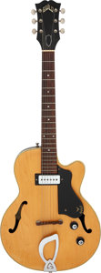 Musical Instruments:Electric Guitars, Circa 1964 Guild M-65 3/4 N.T Natural Semi-Hollow Body Electric Guitar, Serial # 33169....