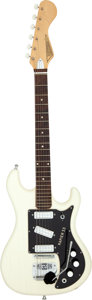 Musical Instruments:Electric Guitars, Circa 1960 Watkins Rapier 33 White Solid Body Electric Guitar, Serial # 10850....