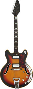 Musical Instruments:Electric Guitars, Circa 1968 Vox Viper Sunburst Semi-Hollow Body Electric Guitar, Serial # 403510....
