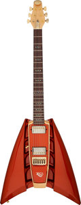 Musical Instruments:Electric Guitars, Circa 2005 RKS Boomerang Orange Solid Body Electric Guitar, Serial # V25532....