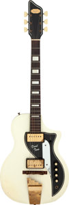 Musical Instruments:Electric Guitars, 1960 Supro Dual Tone White Solid Body Electric Guitar, Serial # T28445....