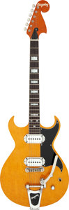 Musical Instruments:Electric Guitars, 2001 Bigsby BYWT Amber Solid Body Electric Guitar, Serial # 0100042....