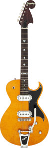 Musical Instruments:Electric Guitars, 2001 Bigsby BY-48T Amber Solid Body Electric Guitar, Serial # 0100043....