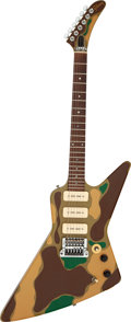 Musical Instruments:Electric Guitars, 1984 Gibson Explorer Camouflage Solid Body Electric Guitar, Serial # 82214520....