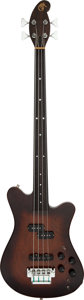 Musical Instruments:Bass Guitars, 1980 Martin EB-28 Brown Stain Electric Bass Guitar, Serial # 4097....