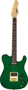Musical Instruments:Electric Guitars, Modern Peavey Cropper Classic Green Solid Body Electric Guitar, Serial # 08324677....