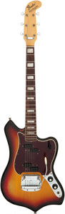 Musical Instruments:Electric Guitars, 1969 Fender Maverick Sunburst Solid Body Electric Guitar, Serial # 258875....