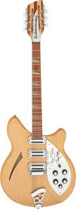 Musical Instruments:Electric Guitars, 1990 Rickenbacker Roger McGuinn Mapleglo 12 String Semi-Hollow BodyElectric Guitar, Serial # B39495.. ...