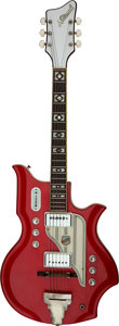 Musical Instruments:Electric Guitars, 1962 National Glenwood 95 Red Solid Body Electric Guitar, Serial # T78179....