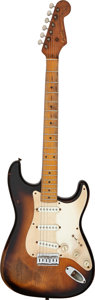 Musical Instruments:Electric Guitars, 1954 Fender Stratocaster Sunburst Solid Body Electric Guitar, Serial # 60761....
