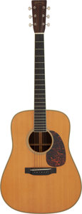 Musical Instruments:Acoustic Guitars, 2002 Martin HD-28LSV Natural Acoustic Guitar, Serial # 860395....