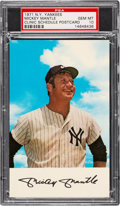 Baseball Cards:Singles (1970-Now), 1971 New York Yankees Mickey Mantle Clinic Schedule Postcard, PSA Gem Mint 10. ...