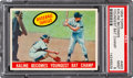 "Baseball Cards:Singles (1950-1959), 1959 Topps ""Kaline Becomes Youngest Bat Champ"" #463 PSA Mint 9...."