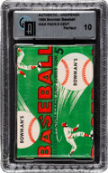 Baseball Cards:Unopened Packs/Display Boxes, 1954 Bowman Baseball 5-Cent Wax Pack GAI Perfect 10! ...