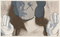 KAWS (American, b. 1974) Kate Moss, White Gloves, 2001 Screenprint in colors on Arches 88 paper 17 x 28 inches (43.2