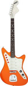 Musical Instruments:Electric Guitars, Circa 2006 DiPinto Galaxie Orange Solid Body Electric Guitar,Serial # 06100048....