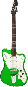 Musical Instruments:Electric Guitars, Modern Italia Modena Green Sparkle Solid Body Electric Guitar....