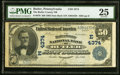 National Bank Notes:Pennsylvania, Butler, PA - $50 1902 Date Back Fr. 670 The Butler County NB Ch. # (E)4374 PMG Very Fine 25.. ...