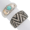 Estate Jewelry:Rings, Diamond, Colored Diamond, Turquoise, White Gold Rings. ... (Total: 2 Items)