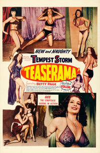 "Teaserama (Beautiful Productions Inc., 1955). Very Fine+ on Linen. One Sheet (27"" X 41.5"")"