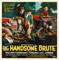 Movie Posters:Action, The Handsome Brute (Columbia, 1925). Fine on Linen.