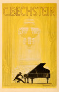 Movie Posters:Miscellaneous, C. Bechstein Piano (1920s). Fine- on Linen. German...