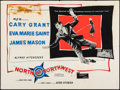 "Movie Posters:Hitchcock, North by Northwest (MGM, R-1960s). Folded, Fine/Very Fine. BritishQuad (30"" X 40""). Hitchcock.. ..."