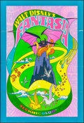 """Movie Posters:Animation, Fantasia & Other Lot (Buena Vista, R-1970). Folded, Very Fine-. One Sheets (2) (28"""" X 41"""" & 27"""" X 41""""). Animation.. ... (Total: 2 Items)"""